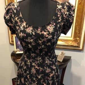 America Rags Floral Black Hi/Low Dress